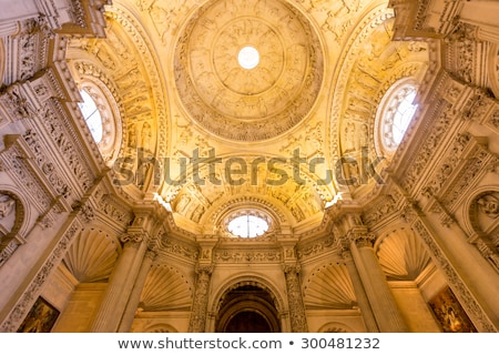 Interior Of Cathedral Of Seville Andalusia Spain Stok fotoğraf © vichie81