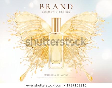Arany frissítő frissítő sör buborékok közelkép Stock fotó © gorgev