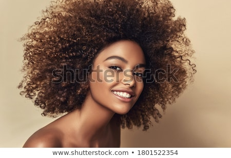 beauty girl on dark background stock photo © pzaxe