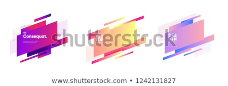 abstract 3d shape backdrop in yellow and blue Stock photo © Melvin07