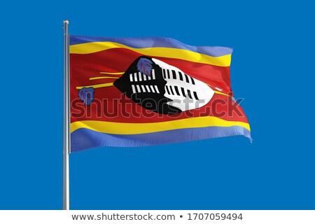 Politiek vlag Swaziland wereld land Stockfoto © perysty