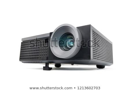 Maakt een reservekopie video projector geïsoleerd computer licht Stockfoto © shutswis