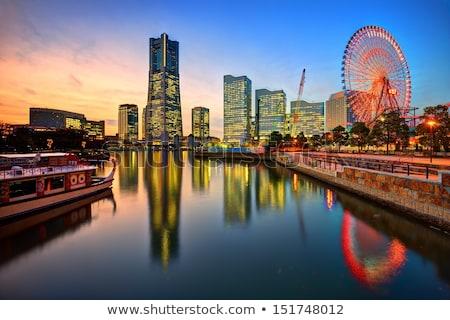 Иокогама · Skyline · день · Япония · бизнеса · путешествия - Сток-фото © travelphotography