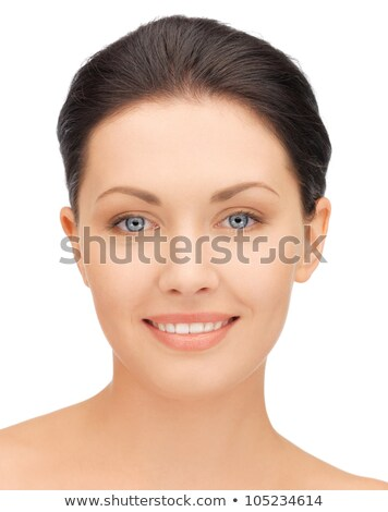 Cute girl - pretty woman face with clean healthy smooth skin Stock photo © gromovataya
