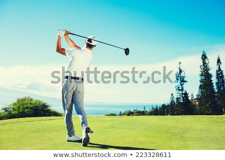 Golfer drive swing shot hout golf Stockfoto © RTimages
