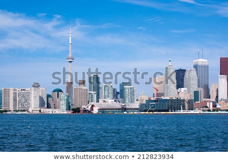 Toronto cityscape ciel clair photo Skyline eau Photo stock © sumners