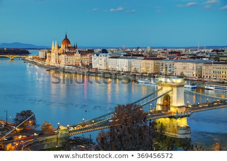 overview of budapest with szechenyi chain bridge stock photo © andreykr