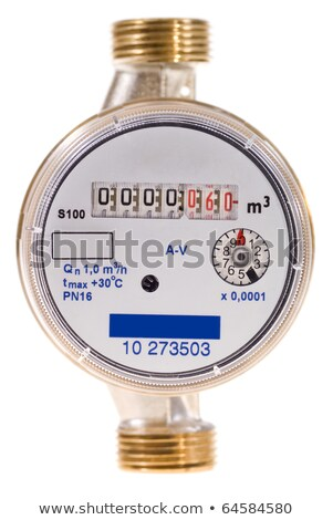 new water meter on white background stock photo © ruslanomega