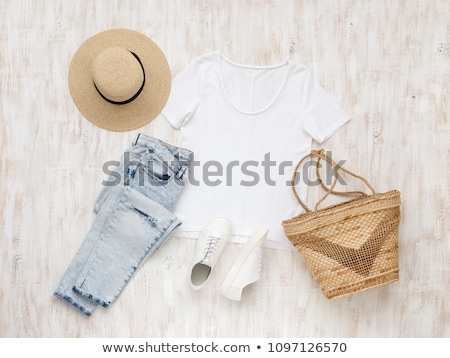 Fashionable women's blue shirt Stock photo © RuslanOmega
