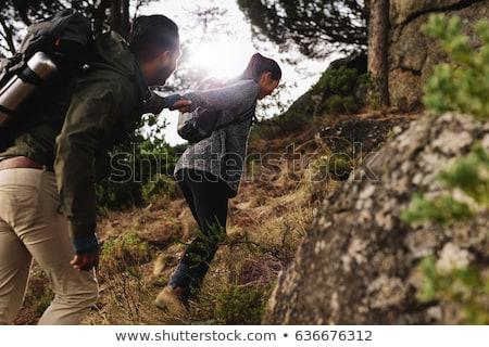 пару · ходьбы · портрет · ходьбе · черный · молодые - Сток-фото © photography33