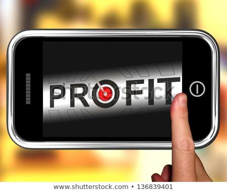 Profit On Smartphone Shows Lucrative Earnings stock photo © stuartmiles
