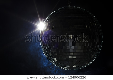 A disco ball with light flare and smoke. Stock photo © Reaktori