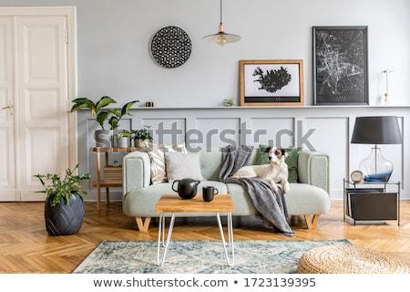 Modernes lampe bougie lumière maison table Photo stock © arturasker