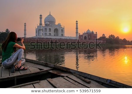 Taj Mahal at dusk Stock photo © ErickN