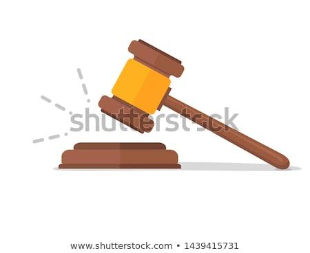 judicial · leilões · gabela · isolado · branco · lei - foto stock © perysty