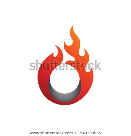 yanan · ateşli · yangın · arka · plan · mektup - stok fotoğraf © Melpomene