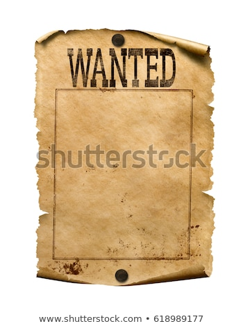 Stok fotoğraf: Old Wanted Poster