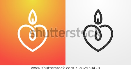 Kalp mumlar iki sevmek nesne birlikte Stok fotoğraf © cobaltstock