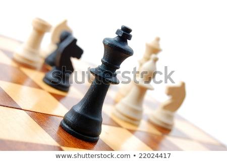 schaken · schaakstuk · geïsoleerd · witte · strategisch · gedrag - stockfoto © dacasdo
