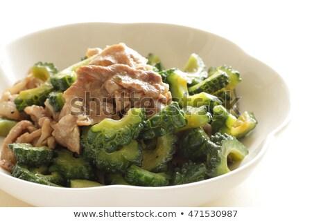 Keserű dinnye hús labda izolált fehér Stock fotó © Witthaya