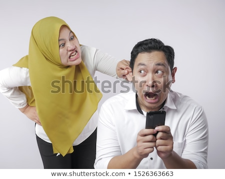 A couple having a fight Stock photo © dacasdo