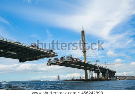railway bridge under construction stock photo © abbphoto