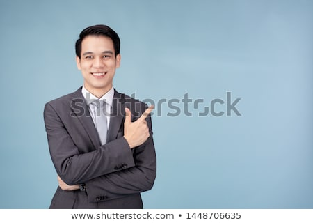 Asian business man hand showing blank space Stock photo © szefei