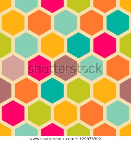 abstract seamless pattern of honeycomb form stock photo © boroda