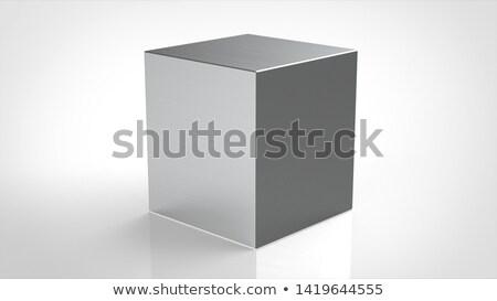 キューブ 金属 パターン プレート 広場 実例 ストックフォト © obradart