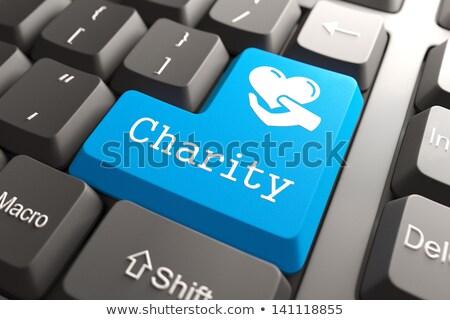 Klavye hayır düğme mavi bilgisayar klavye sosyal Stok fotoğraf © tashatuvango