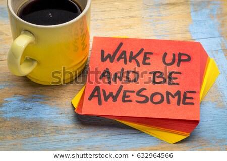 wake up sticky note stock photo © ivelin