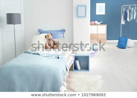 Gyerek ágy illusztráció vektor formátum baba Stock fotó © balasoiu