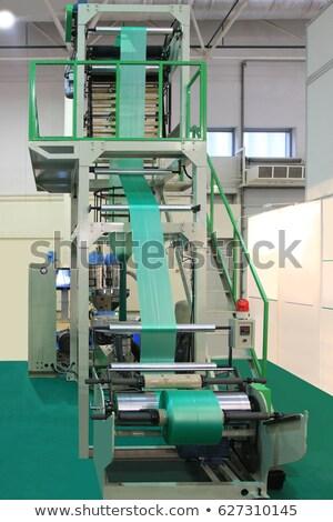 technológia · kék · ipari · műanyag · szatyrok · gyártás - stock fotó © bocosb