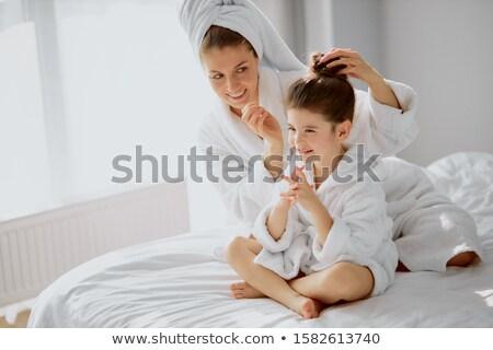 Anya haj aranyos nő család mosoly Stock fotó © luminastock