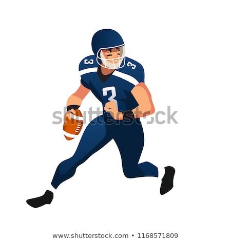 American football player poster. Vector illustration Stock photo © leonido