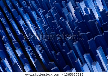 Crystal house on blue background Stock photo © sqback