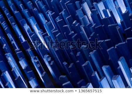 Crystal house on blue background Stock photo © sqback