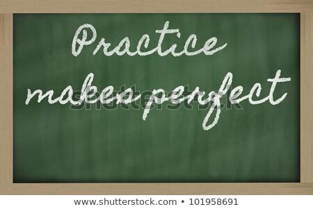 Stock fotó: Gyakorlat · tökéletes · kréta · illusztráció · személy · rajz