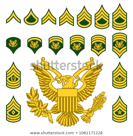 Armée sergent insigne classer badge Photo stock © speedfighter