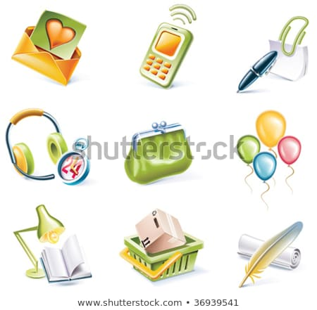 vector shopping icon set and elements part 8 stock photo © tele52