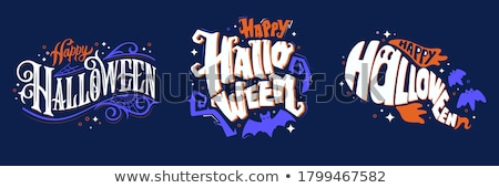 Happy halloween card, vector illustration  Stock photo © carodi