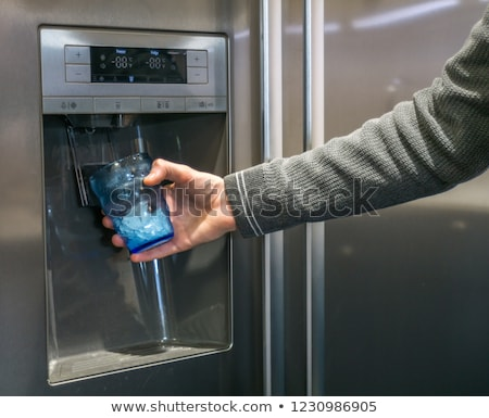 Ice cubes dispenser Stock photo © ABBPhoto