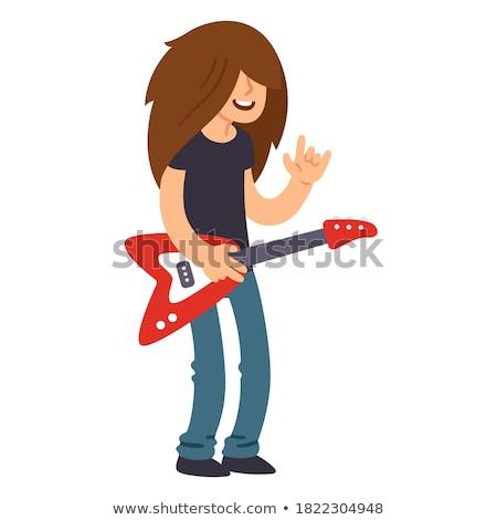 Heavy metal estrela rocha rolar gesto Foto stock © pxhidalgo