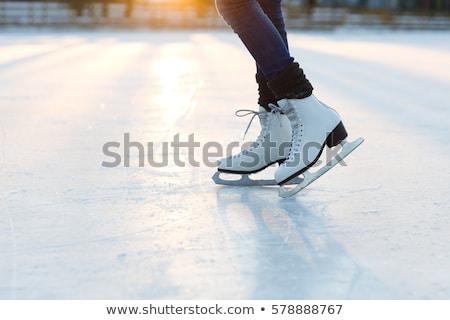 woman legs in white ice skates Stock photo © pxhidalgo