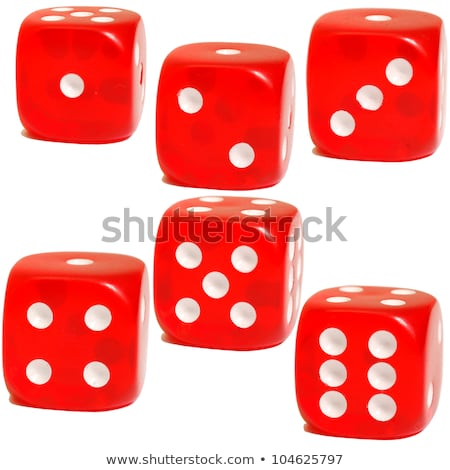 Three colourful dice with sixes Stock photo © adrian_n