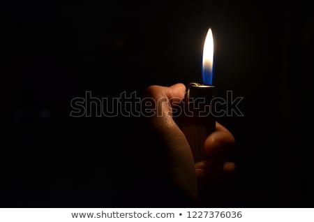 реалистичный · сжигание · сигарету · иллюстрация · белый · огня - Сток-фото © dvarg