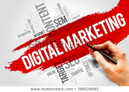 marketing wordcloud concept stock photo © tashatuvango