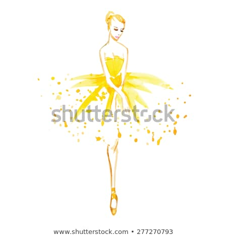 Beautiful graceful ballerina Stock photo © stryjek