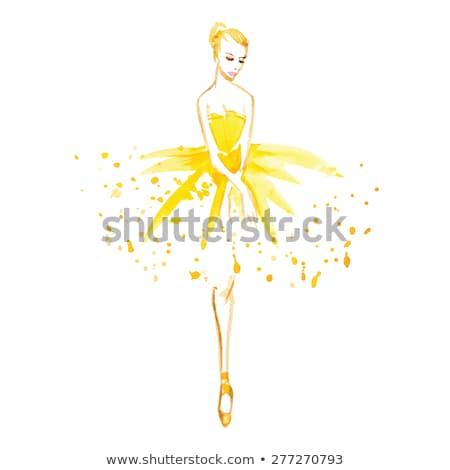 beautiful graceful ballerina stock photo © stryjek