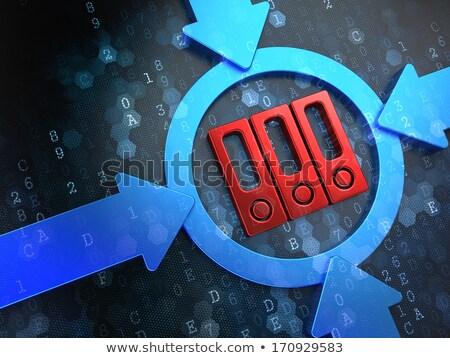 ikona · cyfrowe · niebieski · ciemne · komputera - zdjęcia stock © tashatuvango